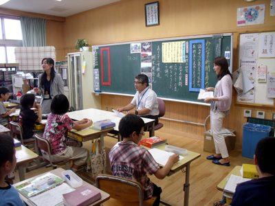 田﨑アドバイザーが授業公開(6月27日)